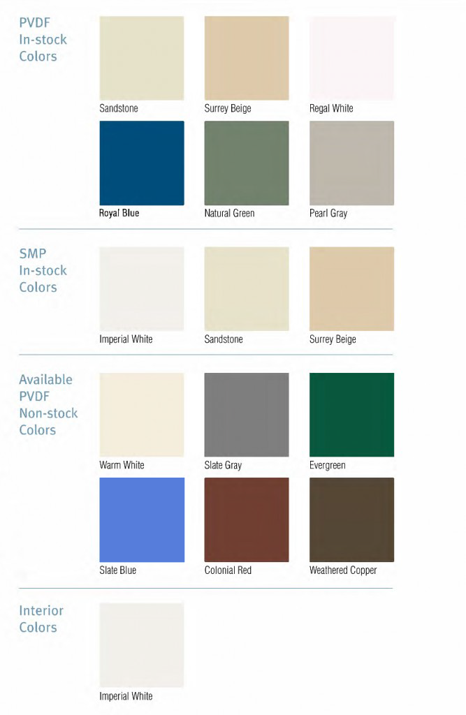 Colors & Finishes | Insulated Panels | All Weather Insulated